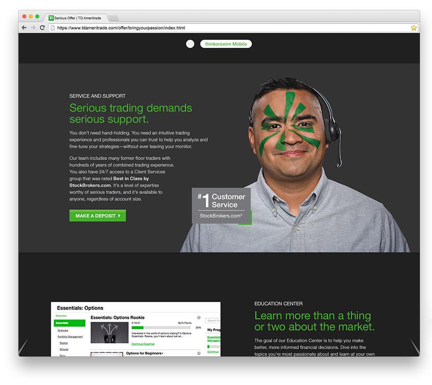 website design example tda