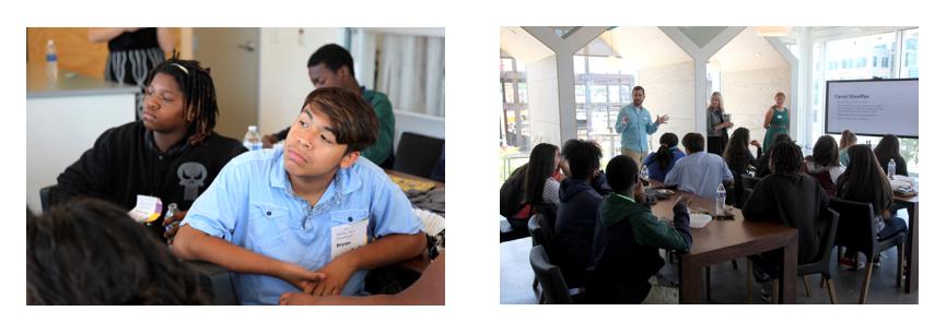 Children watching presentation at AIGA Partnership 4 Kids