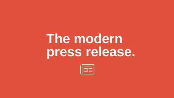 The modern press release