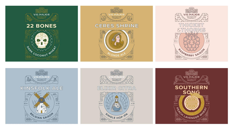 Vis Major beer label designs