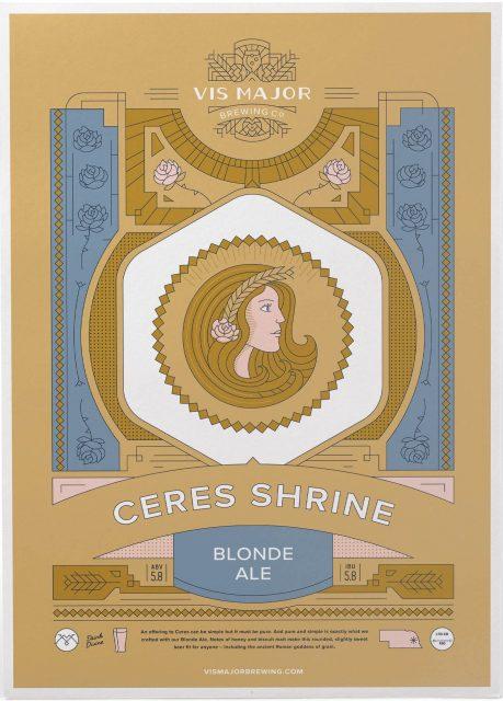Vis Major Ceres Shrine Blonde Ale beer label