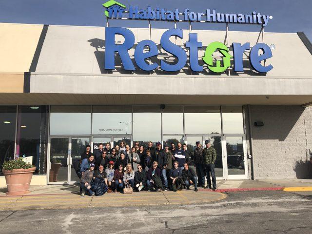 E&S team outside of Habitat for Humanity ReStore