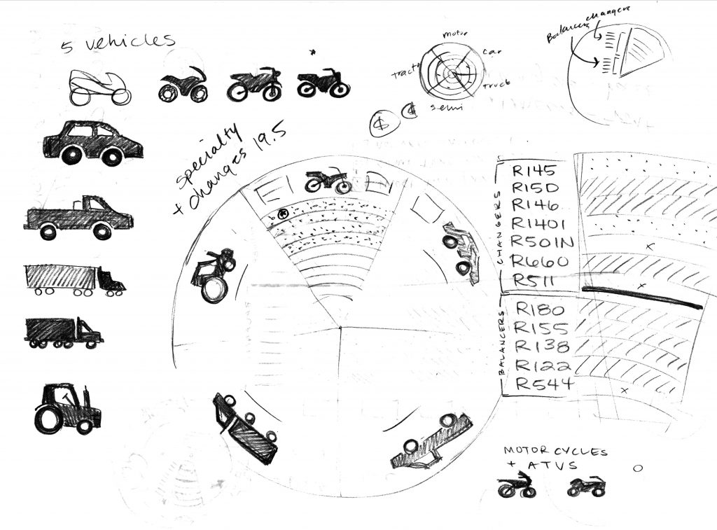 Tire concept sketch
